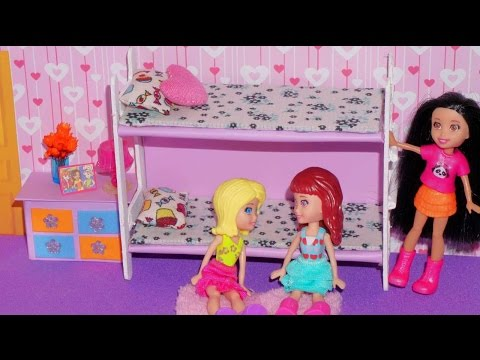 How to make bunk bed for mini doll (Polly, Princess, Lalaloopsy, etc)