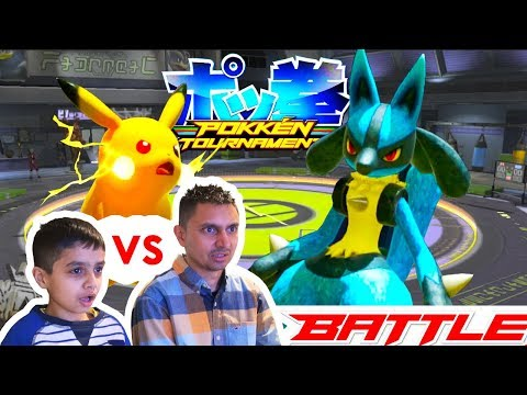 Me vs DAD! POKEMON BATTLE - DAD doesn't know how to play...lol