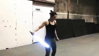 Daisy Ridley - Facebook Lightsaber Practice.