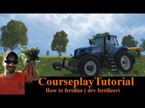 Courseplay Tutorial - How to fertilize your fields (dry fertilizer) - Farming Simulator 15