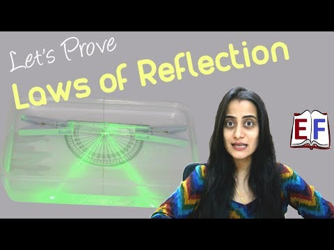 Laws of Reflection using Laser : School Science Experiment
