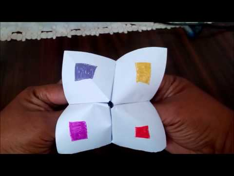 How To Use And Play Paper Fortune Teller/Cootie Catcher