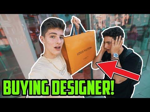 BUYING DESIGNER ITEMS IN BEVERLY HILLS! (Louis Vuitton, Gucci, Goyard)