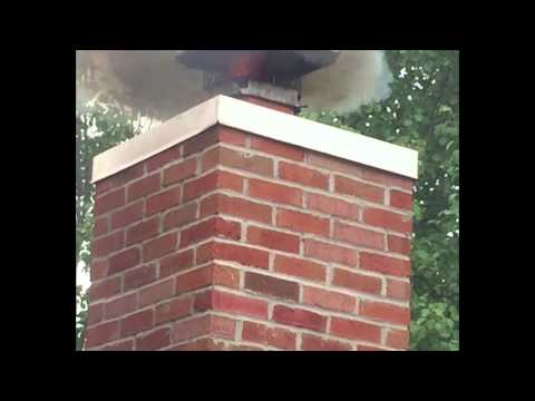 A CSIA chimney flue fire demonstration with the chimney cap on!