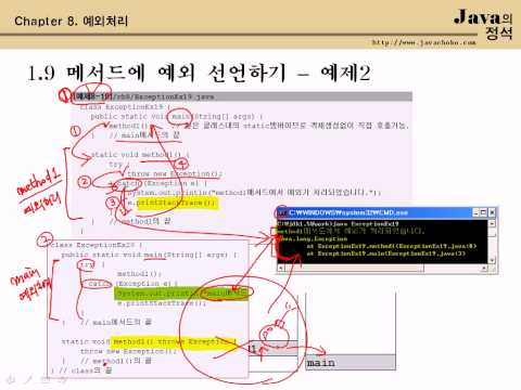 [java의정석 - 동영상강좌] ch8_3 예외처리(3/3) - 남궁성 강의