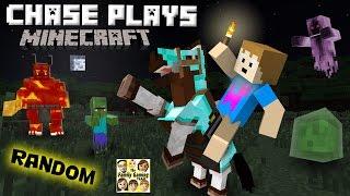 Chase plays MINECRAFT!  Random Gameplay w/ a 4 Year Old!  (FGTEEV)