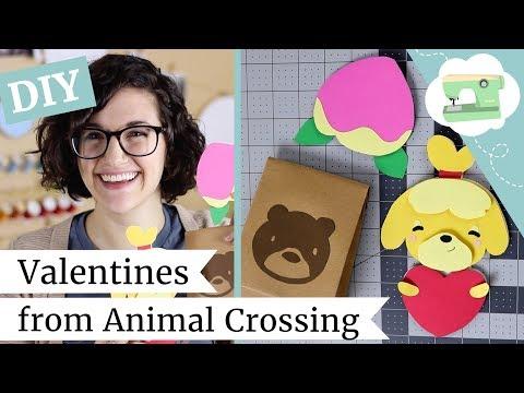 DIY Valentine Cards - How to Make Animal Crossing Cards | @laurenfairwx