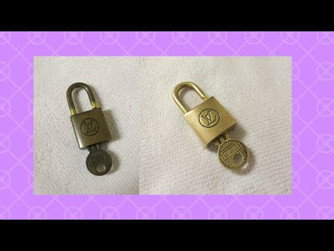 How to Clean a Tarnished Louis Vuitton Brass Lock and Key