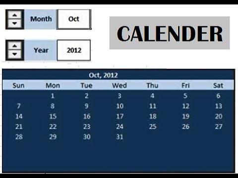 Create Calendar using advanced Excel formulas [video tutorial]