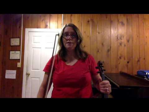 D Major Scale with slurs Violin