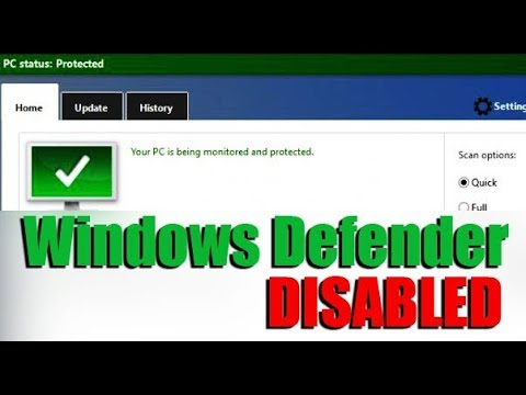 How to Disable Windows Defender Permanently in Windows 10