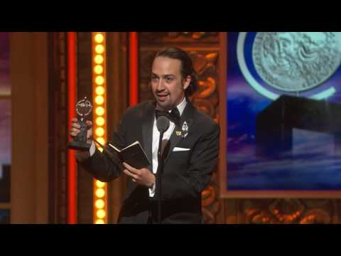Acceptance Speech: Lin-Manuel Miranda - Best Book of a Musical (2016)