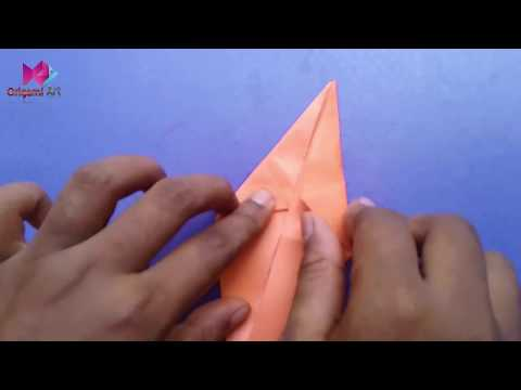 Origami Carrot।How to make an origami carrot easily।Origmai carrot box।Origmai carrot easy।Make Pape
