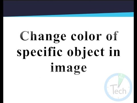 Change Specific Object color in jpg or png image in photoshop