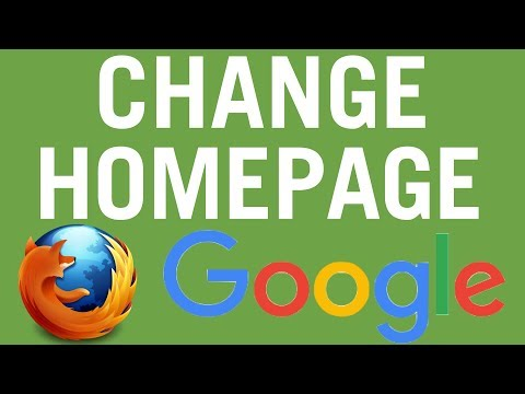 Firefox: How To Make Google Your HomePage