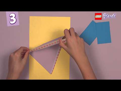 Make a beautiful name banner - LEGO Friends - How To