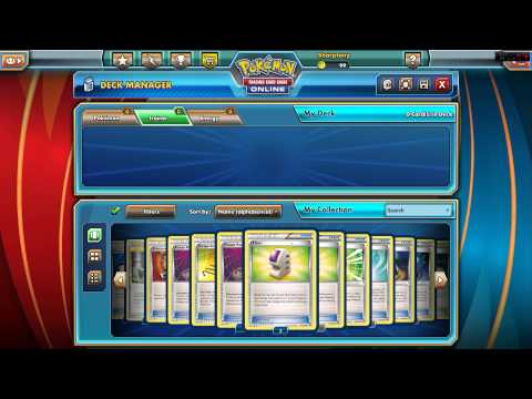 Pokémon TCG Online Tutorial : Building a Deck