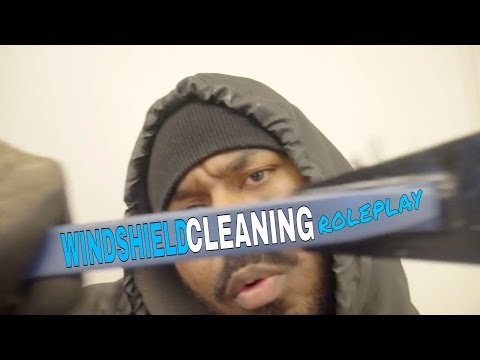 ❄️ ASMR Windshield Cleaning Roleplay ASMR Window Cleaning (Cleaner) for CAR WINDOW Various Triggers