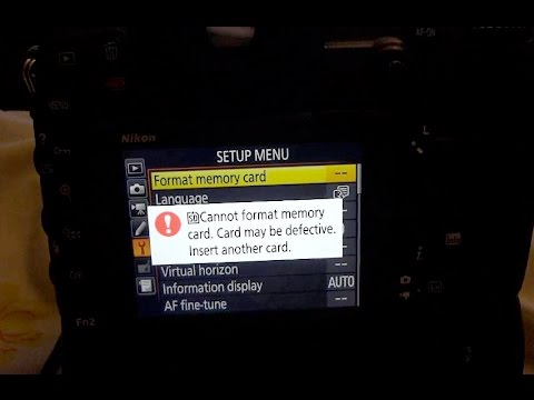 D500 very rare Format-SD card
