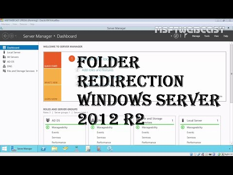 13. Folder redirection windows server 2012 R2 (70-410 MCSA)