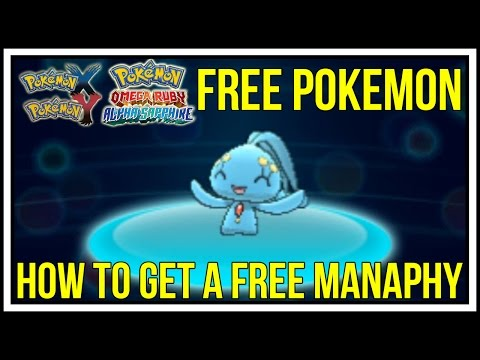 FREE POKEMON! How to Get a Free Manaphy in Pokemon X/Y/Omega Ruby/Alpha Sapphire!