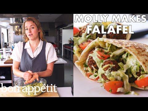 Molly Makes Fresh Herb Falafel | From the Test Kitchen | Bon Appétit