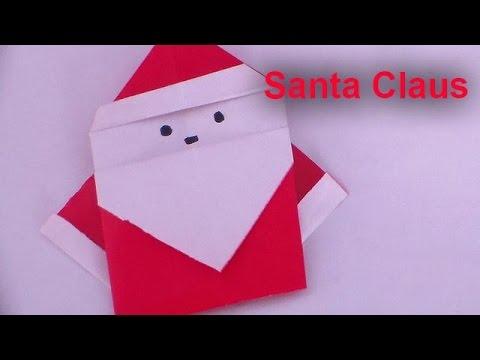How to Make a Santa Claus Origami Christmas