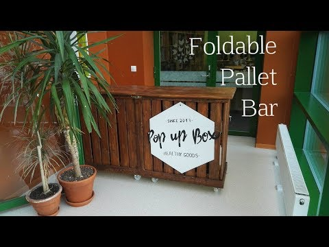 How to build a foldable bar from pallets