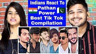 Indian Reaction On Famous Pakistani Pathan Boys Funniest Tik Tok Compilation.