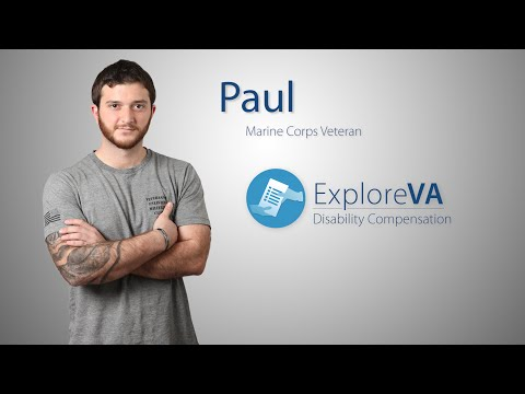 Paul applied for VA disability compensation before he left the military.