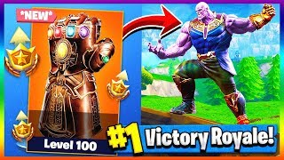 Download PLAYING AS THANOS! Infinity Gauntlet LTM | Fortnite x Avengers Infinity Wars Video