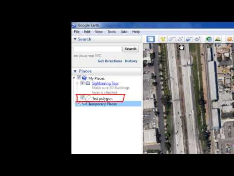 How to save information in Google Earth's 'My Places' folder