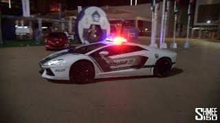 Dubai Police Supercars in Action - Brabus B63S, Aventador, SLS, Bentley Conti GT