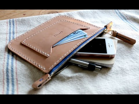 Leather Crafting - Making an EDC Zipper Pouch