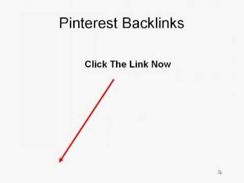 Pinterest Backlinks - Real Pinterest Backlinks and Repins