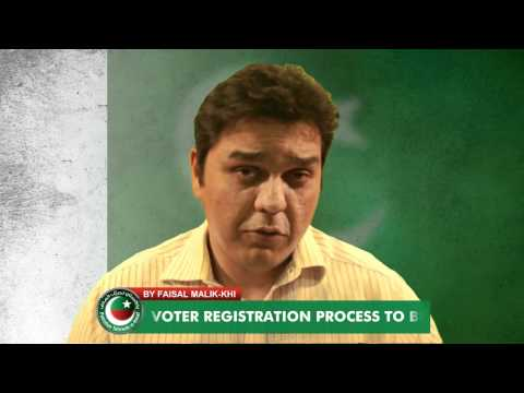 Phase 2 of Voter Registration Process.  A video tutorial by Pakistan Tehreek e Insaf.