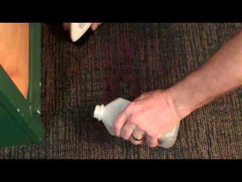 Removing fingernail polish from carpet