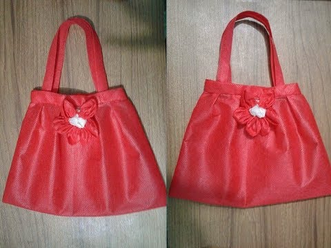 How to Make Handbag at Home With Cloth !