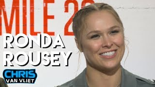 Ronda Rousey on what WWE fans think of her, The Rock, Mile 22, WrestleMania