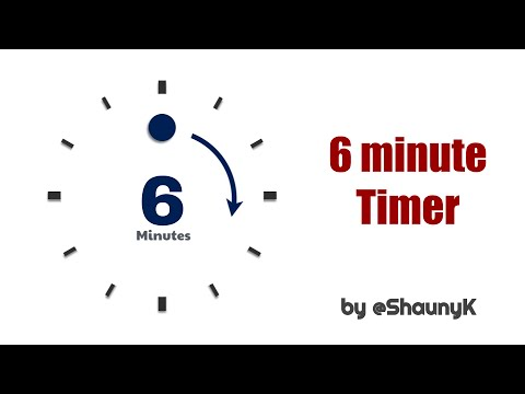 6 Minute Countdown Timer with minute click sounds 6 mins