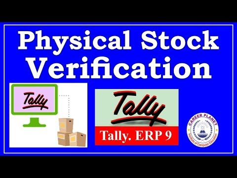 Physical Stock Verification in Tally ERP 9 Part-88| Learn Tally in Hindi