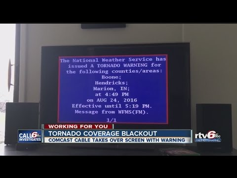 CALL 6: Comcast overrode local tornado coverage with EAS warning