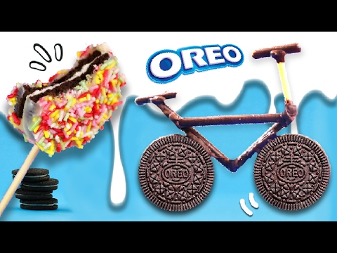 4 Super FUN HACKS and EASY recipes with OREO cookies 😋 DIY OREO Bicycle!! 🚲+🍪