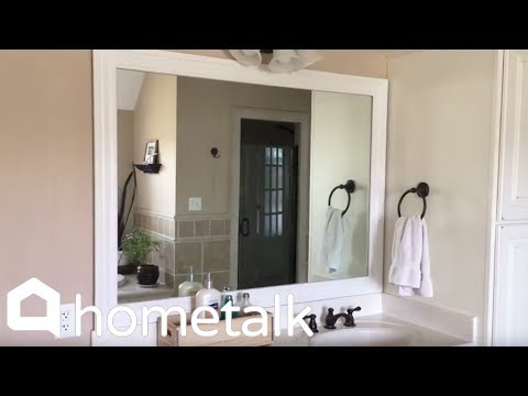 How to Make Your Boring Builder Grade Bathroom Mirror Look High-end