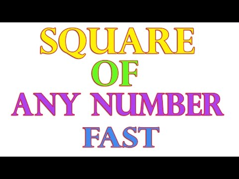 Vedic Maths : Square of Any Two Digit Number Very Fast - Hindi (2016)