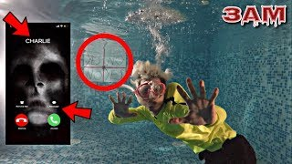 DO NOT PLAY CHARLIE CHARLIE CHALLENGE WITH FIDGET SPINNER IN SWIMMING POOL AT 3AM!!! *OMG SO CREEPY*