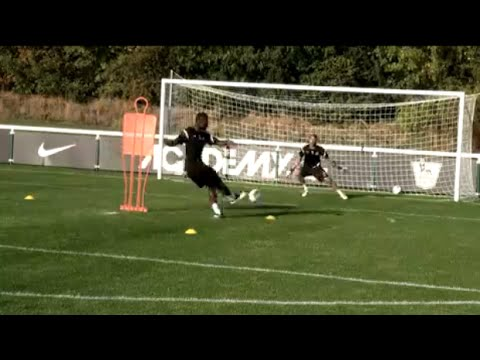Soccer shooting exercise   The four-way finish drill   Nike Academy