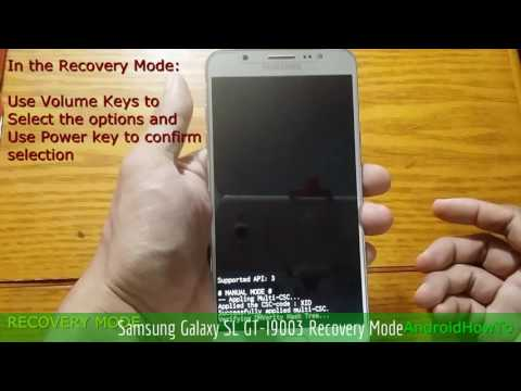 Samsung Galaxy SL GT-I9003 Recovery Mode