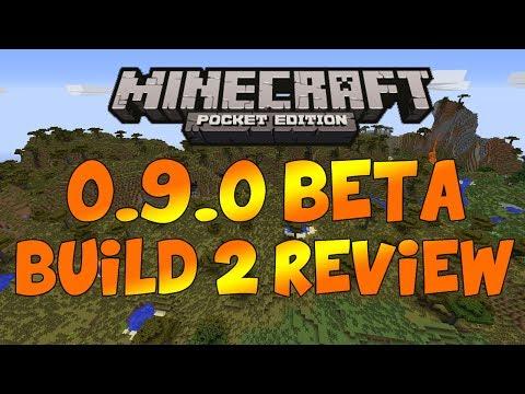Minecraft Pocket Edition 0.9.0 Beta Build 2 Full Review!