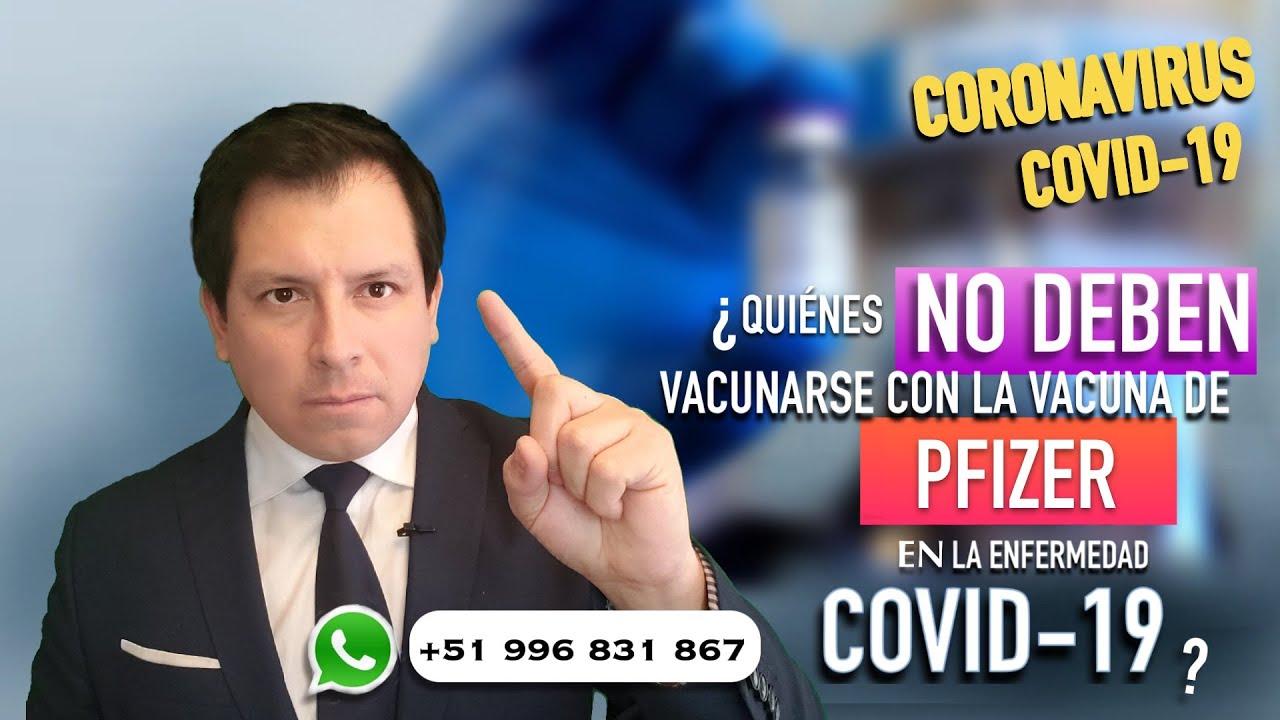 ¿QUIÉNES NO DEBERÍAN VACUNARSE CON LA VACUNA DE PFIZER? RECOMENDACIONES A TOMAR EN CUENTA !!!